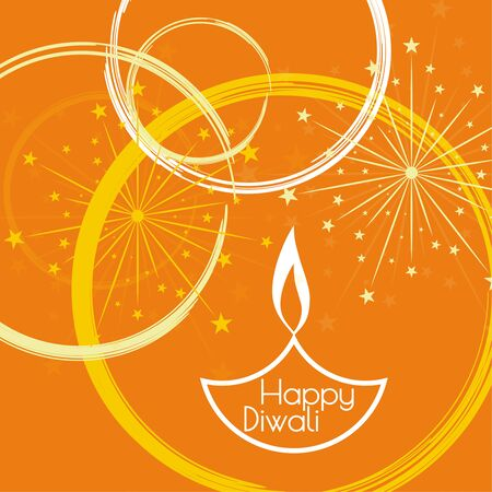 lit: Abstract background with oil lit lamp with rangoli for Diwali celebration.