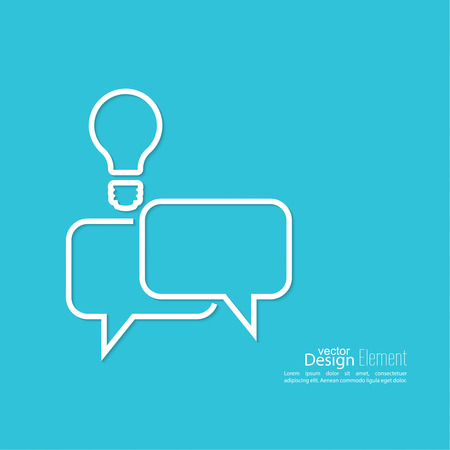 brain storming: Abstract background with Speech Bubbles symbol. Chat icon. Concept showing conversation and discussion, question and answer. Brain storming and creating ideas.
