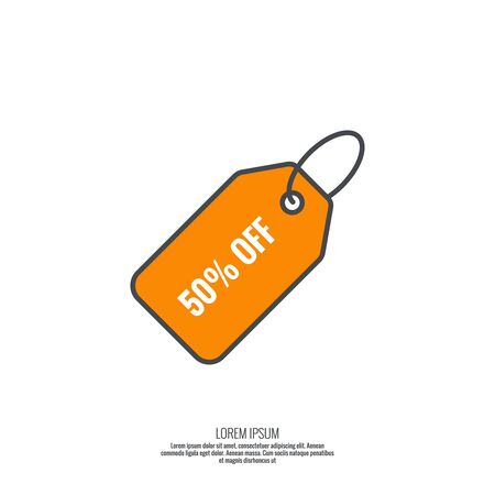 black pictogram: Tag and label icon. sale, discounts, specia offer,l Black Friday. Pictogram icon. minimal, outline.