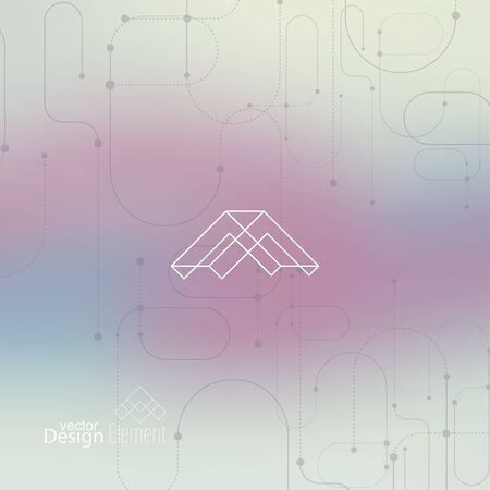 neat: Abstract neat Blurred Background. Hipster Geometric shape, line and dot. Modern Signs, Label. For cover book, brochure, flyer, poster, magazine, cd, website, app mobile, annual report, T-shirt