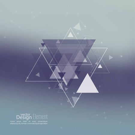 background cover: Abstract blurred background with hipster triangles. Triangle pattern background. For cover book, brochure, flyer, poster, magazine, cd cover design, t-shirt