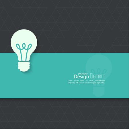 inspiracion: Bombilla de la idea. dise�o plano. concepto de innovaci�n de ideas inspiraci�n, invenci�n, pensamiento efectivo