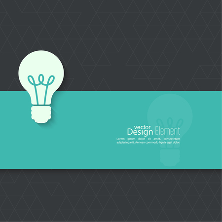 bulb light: Bulb light idea. flat design. concept of ideas inspiration innovation, invention, effective thinking Illustration