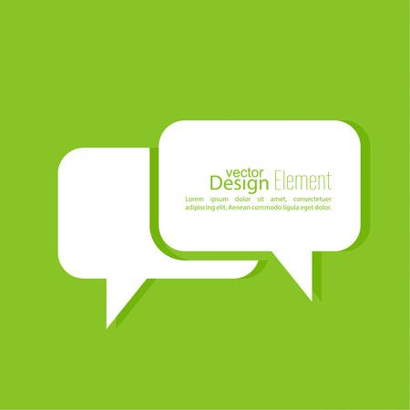 dialogo: Fondo abstracto con el símbolo de las burbujas del discurso. Icono de Chat. Concepto que muestra la conversación y la discusión, preguntas y respuestas.