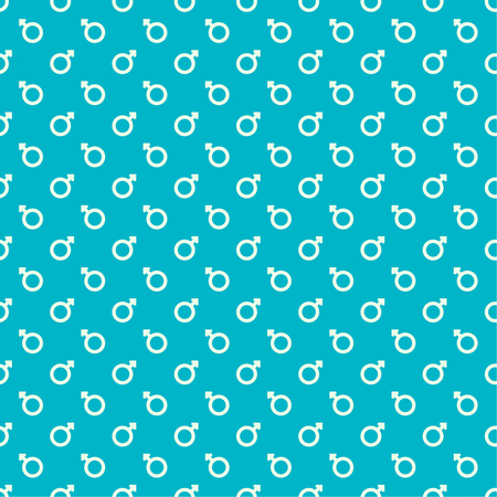 puberty: Repeating geometric background with sign of masculinity. Seamless vector pattern. For wrapping paper, fabric, textiles, wallpaper, substrate