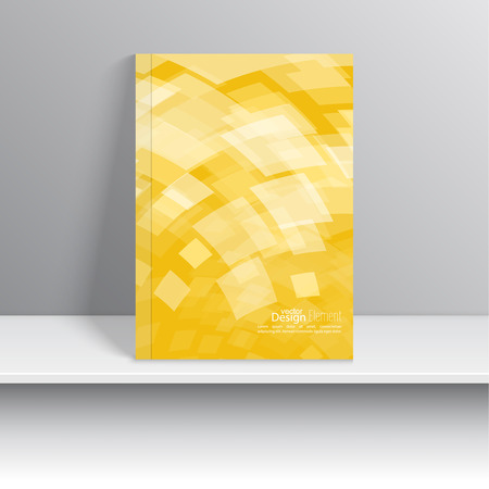 template: Magazine Cover with square, rhombus . For book, brochure, flyer, poster, booklet, leaflet, cd cover, postcard, business card, annual report. vector illustration. abstract background