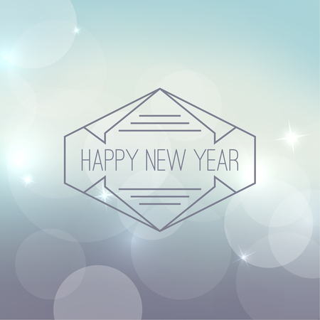 frame border: Abstract blurred vector background with sparkle stars and hipster border, frame. For decorations for Merry Christmas, New Year, festivals,  xmas, glamour holiday, illuminated, celebration Illustration