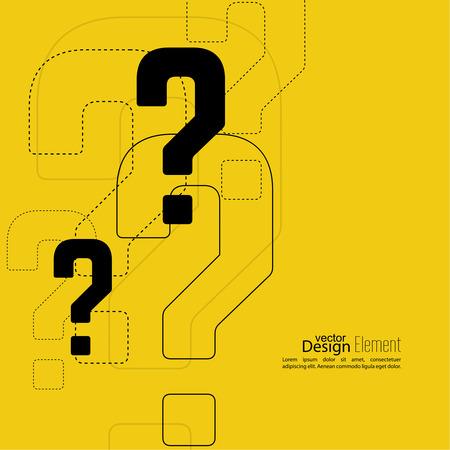 punto di domanda: Icona punto interrogativo. Simbolo di aiuto. Domande cartello su sfondo. vettore