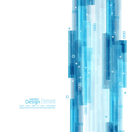 Abstract background with blue stripes. Concept  new technology and dynamic motion. Digital Data Visualization. For cover book, brochure, flyer, poster, magazine, booklet, leaflet Banco de Imagens - 47067252