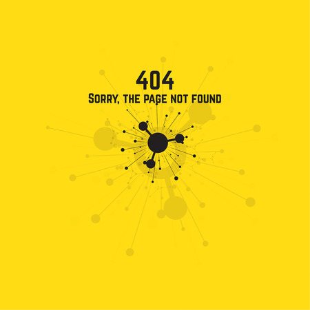 oops: connection error. Sorry, page not found. vector. Abstract background with the explosion and flying particles