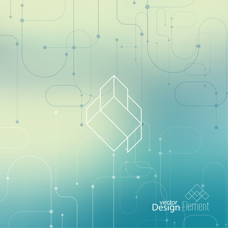 Abstract neat Blurred Background. Hipster Geometric shape, line and dot. Modern Signs, Label. For cover book, brochure, flyer, poster, magazine, cd, website, app mobile, annual report, T-shirt,