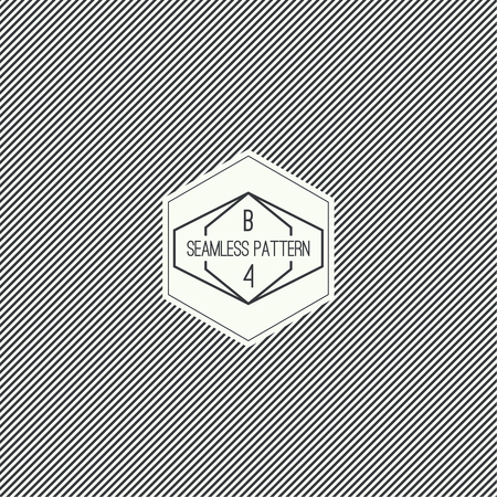 geometric design: Vector seamless pattern with hipster vintage old banner. Repeating geometric shapes, diagonal stripe