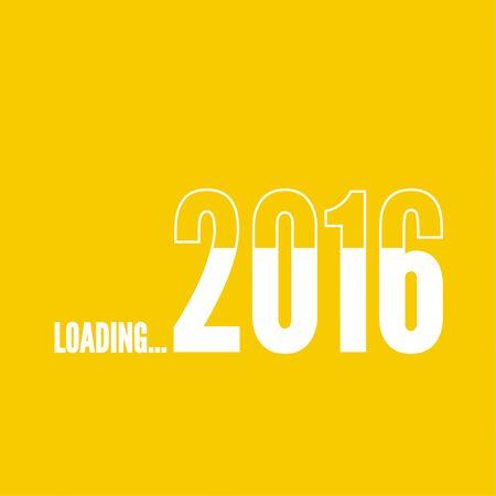 loader: The concept of  new arrival in 2016. progress bar loader.