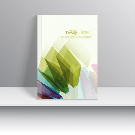 Magazine Cover with colored crystals, trellis structure. For book, brochure, flyer, poster, booklet, leaflet, cd cover design, postcard, business card, annual report. vector illustration. abstract background