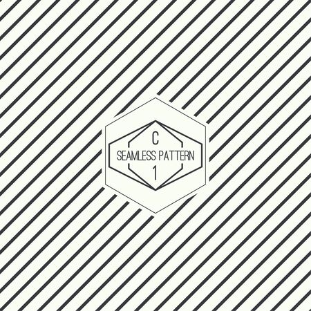 slant: Vector seamless pattern with hipster vintage old banner. Repeating geometric shapes, diagonal stripe
