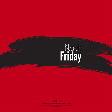 smears: Hand drawn grunge brush smears. Black Friday, the final sale, red background