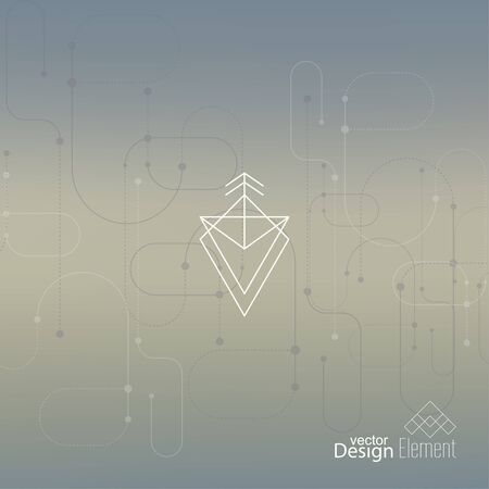 neat: Abstract neat Blurred Background. Hipster Geometric shape, line and dot. Modern Signs, Label. For cover book, brochure, flyer, poster, magazine, cd, website, app mobile, annual report, T-shirt, logo Illustration