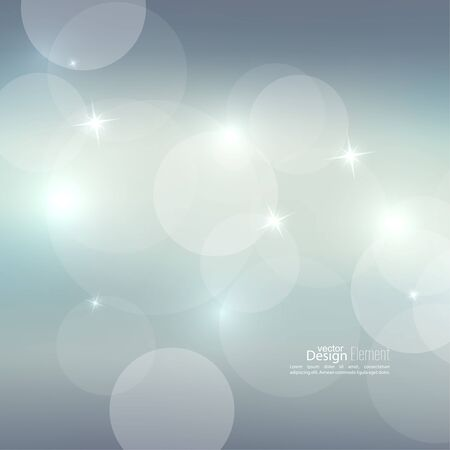 glint: Abstract blurred vector background with sparkle stars. For decorations for Merry Christmas, New Year, anniversaries, festivals, birthday, xmas, glamour holiday, illuminated, celebration