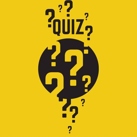 questionably: Quiz background. The concept is the question with the answer. vector.