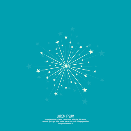 celebration background: Abstract background with flashes of salute. Bright celebratory fireworks. blue