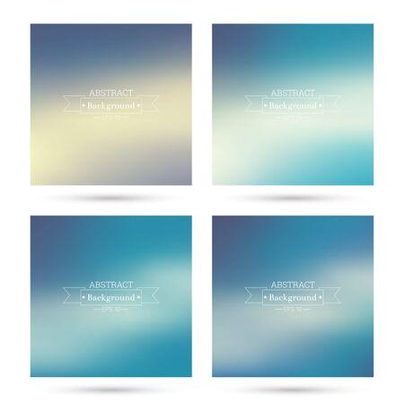 fondos violeta: Conjunto de vectores de fondos abstractos coloridos borrosa. Para la aplicación móvil, de libro, folleto, el fondo, el cartel, sitios web, informes anuales. púrpura, azul, violeta Vectores