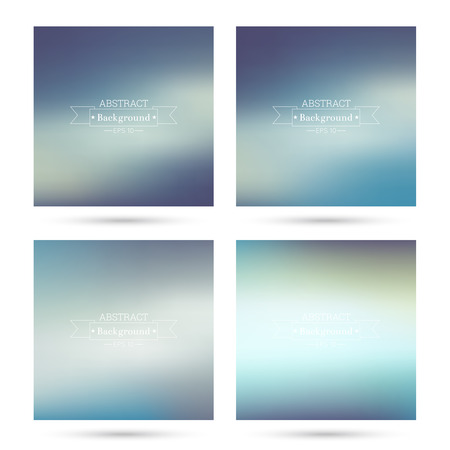 poster backgrounds: Set of vector colorful abstract backgrounds blurred. For mobile app, book cover, booklet, background, poster, web sites, annual reports. purple, blue, violet Illustration