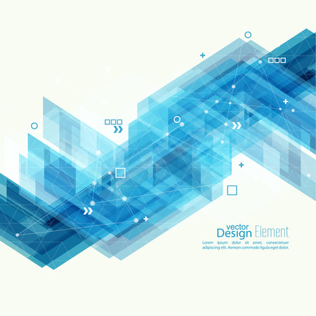 Abstract background with blue stripes corner. Concept  new technology and dynamic motion. Digital Data Visualization. For cover book, brochure, flyer, poster, magazine, booklet, leaflet Stock Illustratie