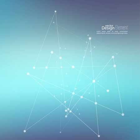 coordinates: Virtual abstract background with particle, molecule structure. genetic and chemical compounds. creative vector. Space and constellations. Science and connection concept. Social network.