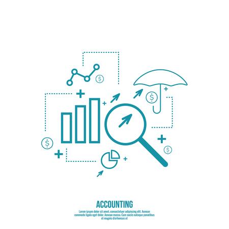 分析と財務管理レポートと予測。株式市場の指標・統計データ。