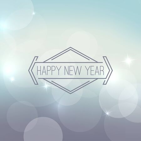 holiday background: Abstract blurred vector background with sparkle stars and hipster border, frame. For decorations for Merry Christmas, New Year, festivals,  xmas, glamour holiday, illuminated, celebration Illustration