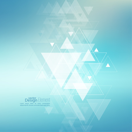 Abstract blurred background with hipster stream flying triangles debris. Triangle pattern background. For cover book, brochure, flyer, poster, magazine, cd cover design, t-shirt. Vector design.