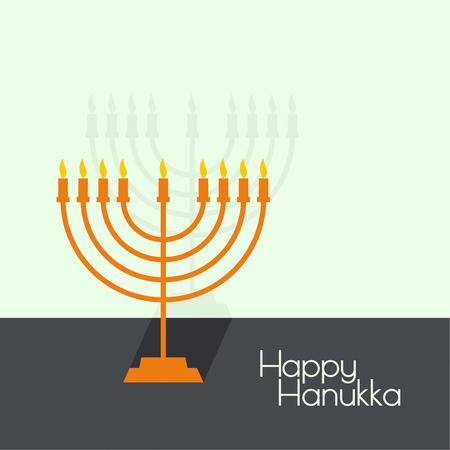 candelabrum: Jewish Menorah with candles. Vector illustration. Abstract background happy hanukka Illustration
