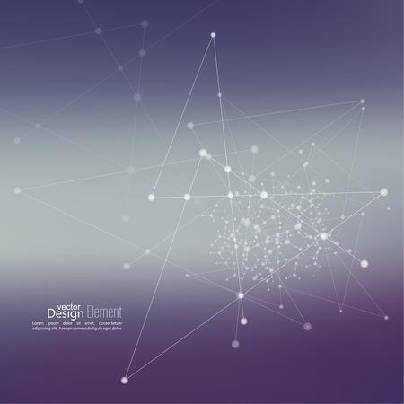 kết cấu: nền trừu tượng ảo với hạt, cấu trúc phân tử. di truyền học và hóa học các hợp chất. Không gian và chòm sao. Khoa học và khái niệm kết nối. Mạng xã hội. Mờ mềm vector sáng tạo. Hình minh hoạ