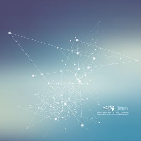 molecula: Fondo abstracto Virtual con part�culas, estructura de la mol�cula. compuestos gen�ticos y qu�micos. Espacio y constelaciones. Ciencia y concepto de conexi�n. Red social. Borrosa vectorial creativa suave.