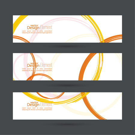 yellow orange: Abstract background with colored  curls. Template for cover, business reports, layout, poster, web design, websites, annual report, brochure, flyer