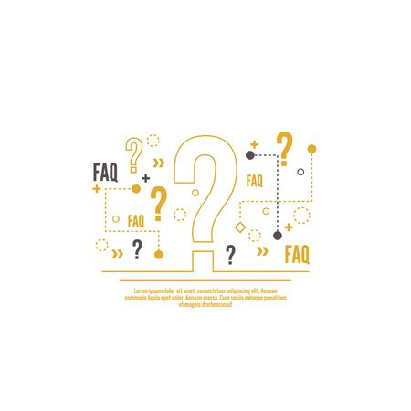 help symbol: Question mark icon. Help symbol. FAQ sign on background.