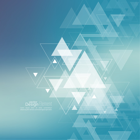 for design: Abstract blurred background with hipster stream flying triangles debris. Triangle pattern background. For cover book, brochure, flyer, poster, magazine, cd cover design, t-shirt.