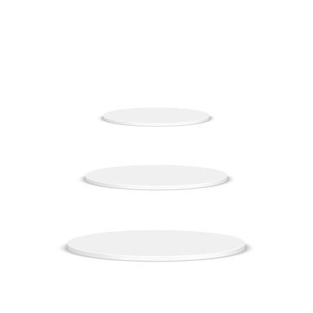 spot clean: Round pedestal for display. Platform for design. Realistic 3D empty podium Illustration