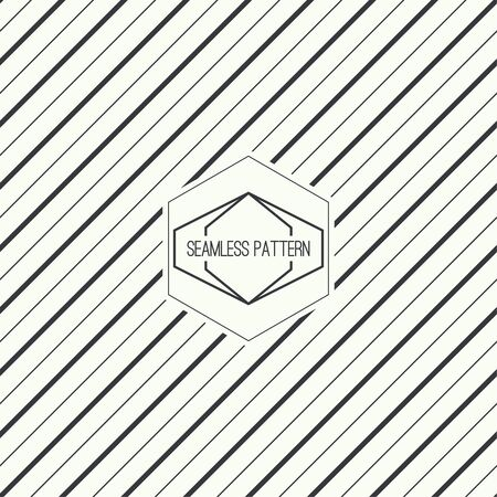 oblique line: Vector seamless pattern with hipster vintage old banner. Repeating geometric shapes, diagonal stripe