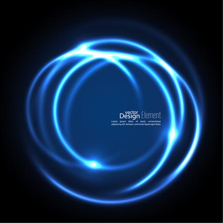 kurve: Abstrakt Hintergrund mit leuchtenden wirbelnden Hintergrund. Schnittkurven. Leuchtende Spirale. Der Energiefluss-Tunnel. Vektor. blau