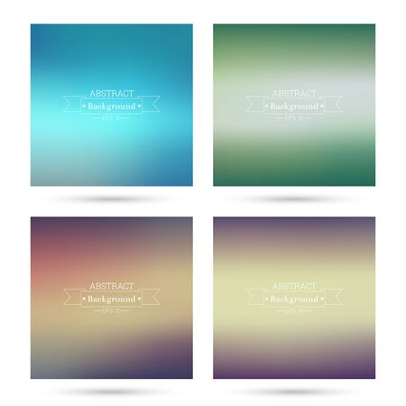fondos violeta: Set of vector colorful abstract backgrounds blurred. For mobile app, book cover, booklet, background, poster, web sites, annual reports. purple, green, violet, blue
