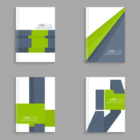 magazine cover: Set Magazine Cover with origami intersecting ribbons. For book, brochure, flyer, poster, booklet, leaflet, cd cover, postcard, business card, annual report. vector illustration. abstract background