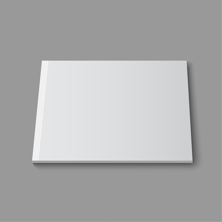 blank magazine: Blank empty magazine or book or booklet, brochure, catalog template  on a gray background. vector