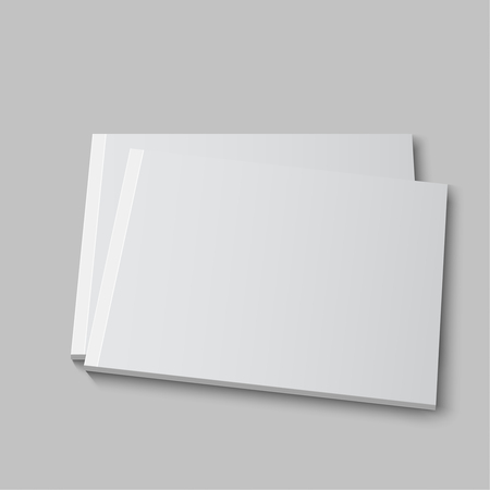 blank template: Blank empty magazine or book or booklet, brochure, catalog template  on a gray background. vector