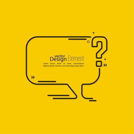 Vraagteken pictogram. Help-symbool. FAQ teken op de achtergrond. vector. Tekstballonnen en Chat symbool.