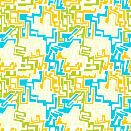 irregular shapes: Vector seamless pattern with multi-colored geometric shapes of irregular shape. Seamless Texture. yellow,  blue, green