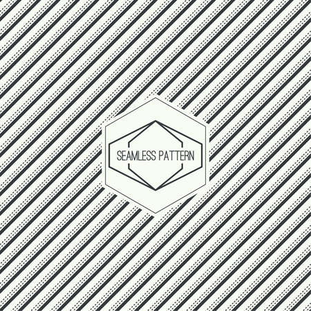 skew: Vector seamless pattern with hipster vintage old banner. Repeating geometric shapes, diagonal stripe