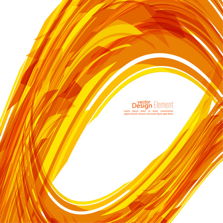 subsidiary: Abstract background with orange stripes, plus. Concept new technology and dynamic motion. Digital Data Visualization. Arc with symbols. Annual Report with information dots, circle, wave Illustration