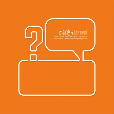 help symbol: Question mark icon. Help symbol. Illustration