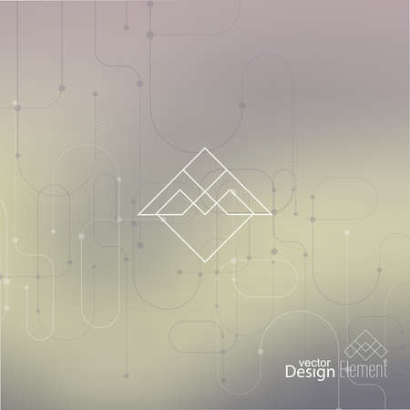 neat: Abstract neat Blurred Background. Hipster Geometric shape, line and dot.